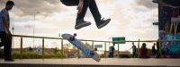 Skateboard Kiting in den Bergen. - 35 KNOTS