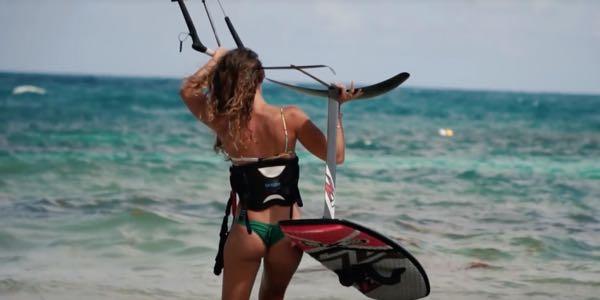 Eerste kite foil sessie