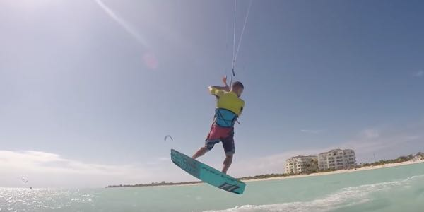 kitesurf jump transitions