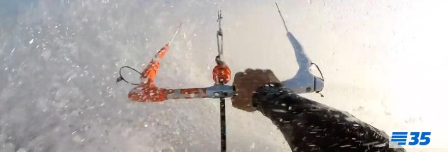 Extreme kitesurf sessie in Tarifa