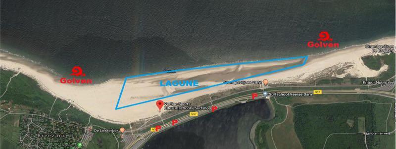 Kitesurf locatie Vrouwenpolder
