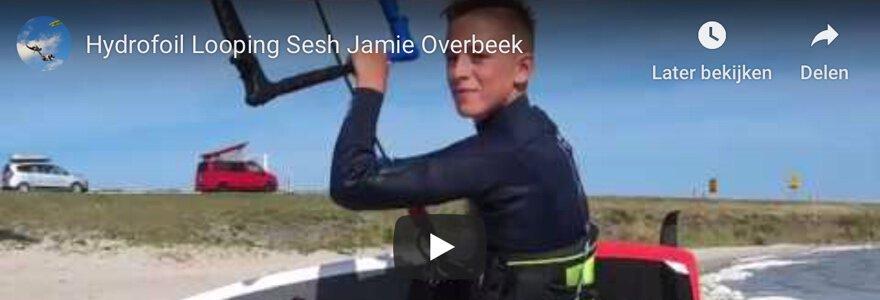 Hydrofoil looping met Jamie Overbeek