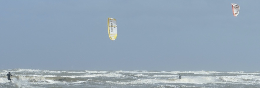 Kitesurfen in de winter is heerlijk