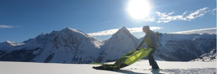 Snowkiting in paradise