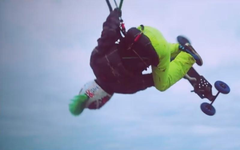 Epic kite land boarding session Ijmuiderslag