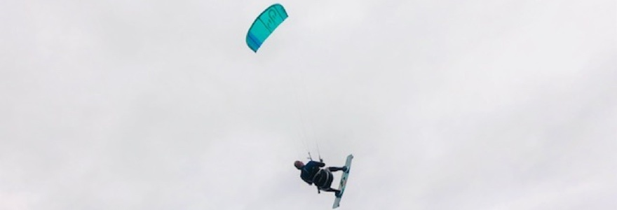 Henri Conings de onbekende kitesurfer