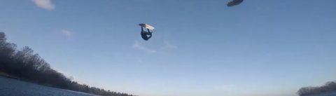 Big air kitesurfing in Stockholm