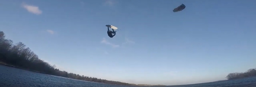 Big air kitesurfing in Stockholm