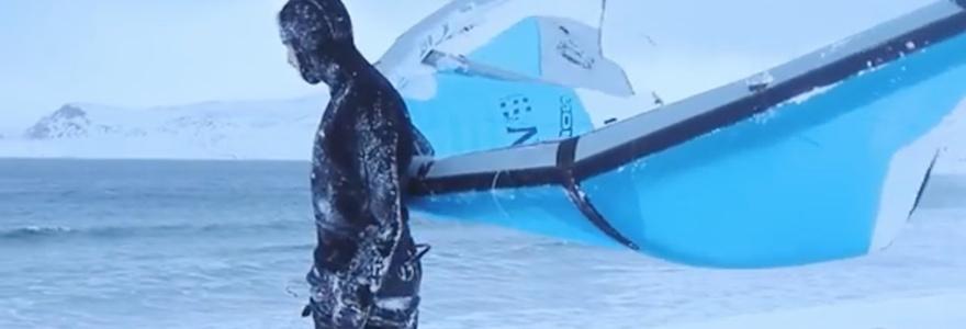 Kitesurfen op de Noordelijke IJszee