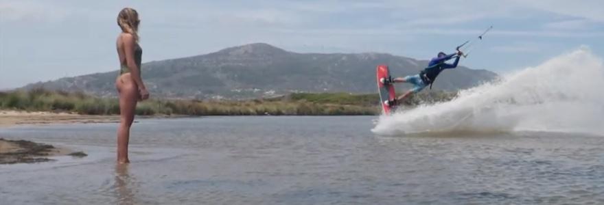 Kitesurf sessie met Arthur Guillebert