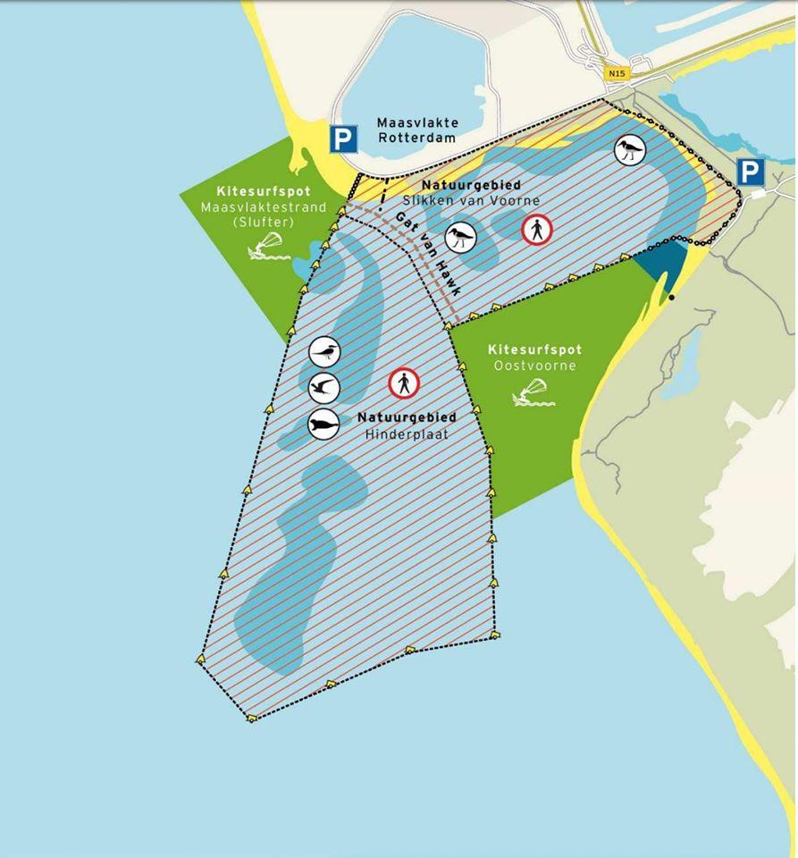 Kitesurfing spot Oostvoorne - 35 KNOTS